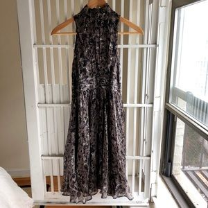 Zara silk midi dress in EUC